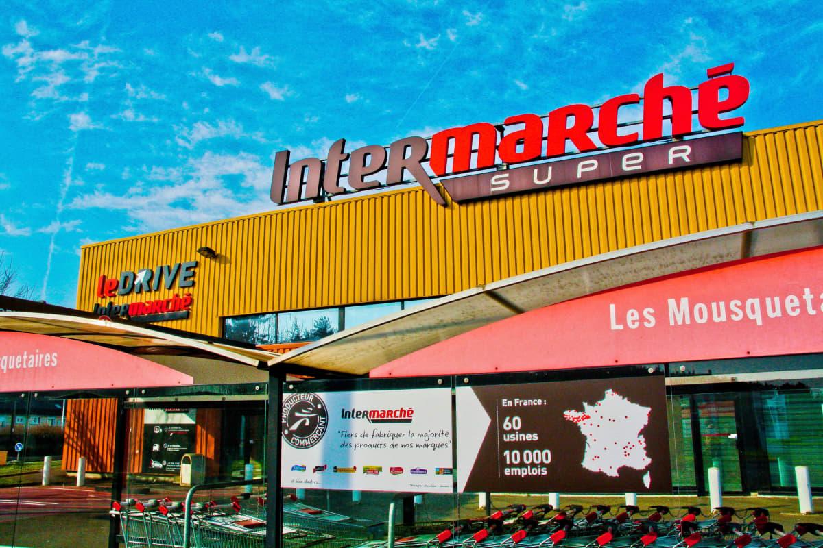 Intermarche-ketjun myymälä Ranskassa.
