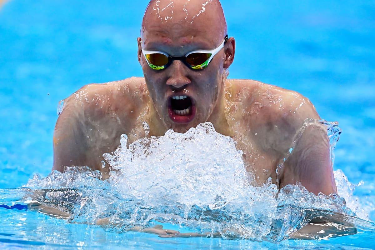 Matti Mattsson toukokuussa 2021 Budabestin EM-uinneissa.