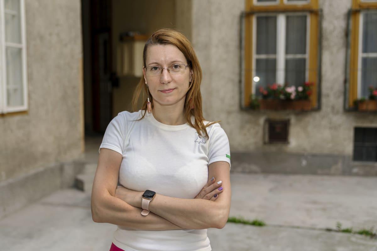 Budapestissä seksuaalivähemmistöjen asiaa ajavan Labrisz-järjestön Viktoria Sulyok.