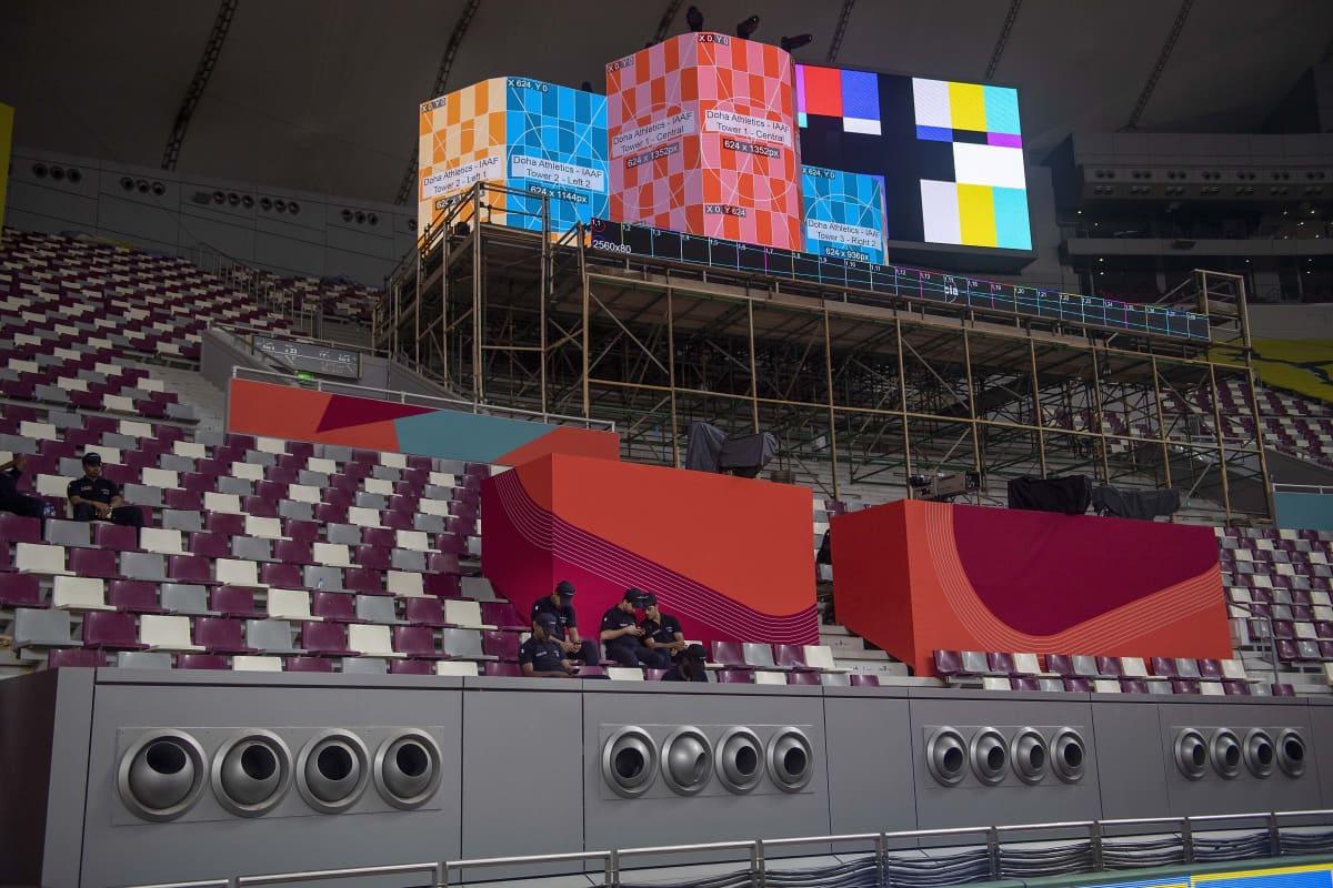 Dohan Khalifa-stadionin ilmastointilaitteet.