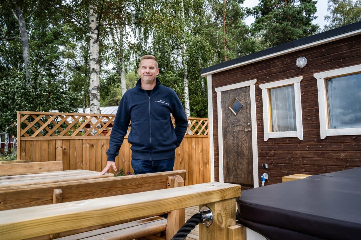 Yrittäjä Jarno Nieminen, Tervakallio Camping.