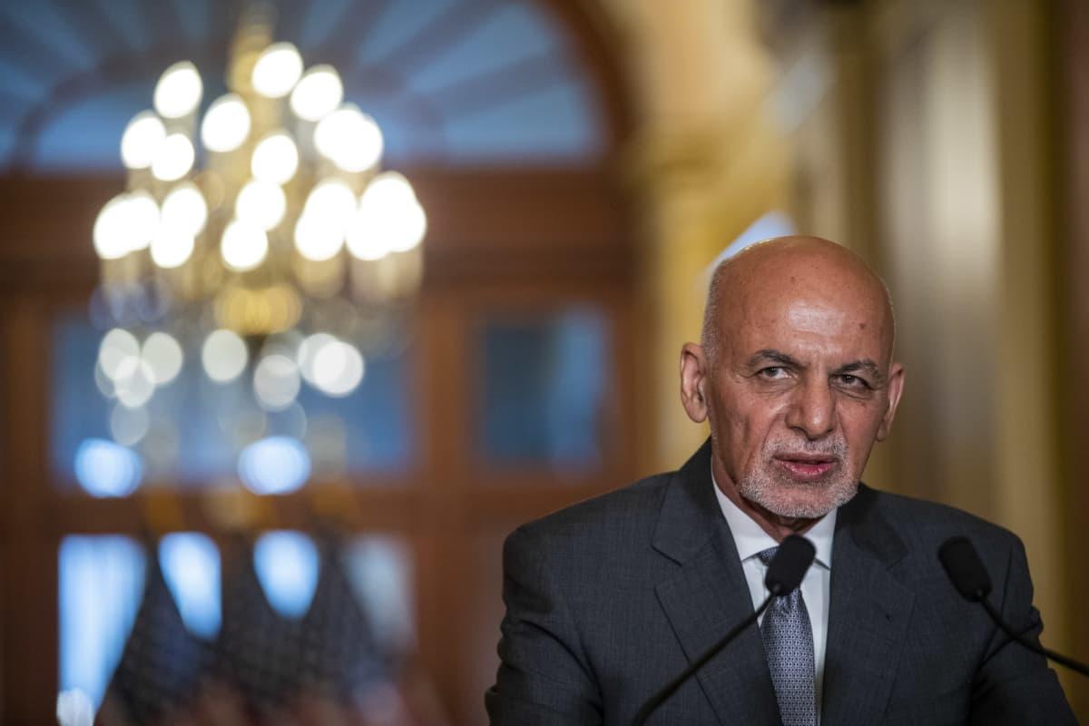 Afganistanin presidentti Ashraf Ghani Yhdysvalloissa kesäkuussa 2021.