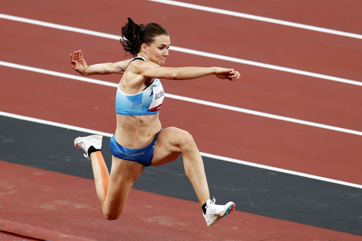 Senni Salminen kuvattuna Tokion olympialaisissa.