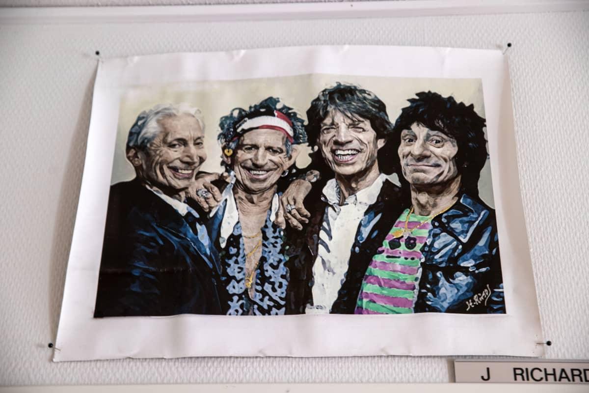 Rolling Stones maalaus