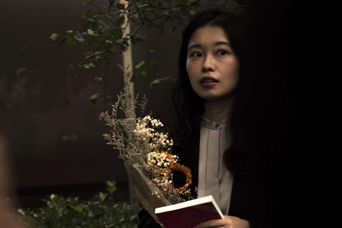 Zhou Xiaoxuan ennen #metoo-oikeudenkäyntiä Pekingissä.