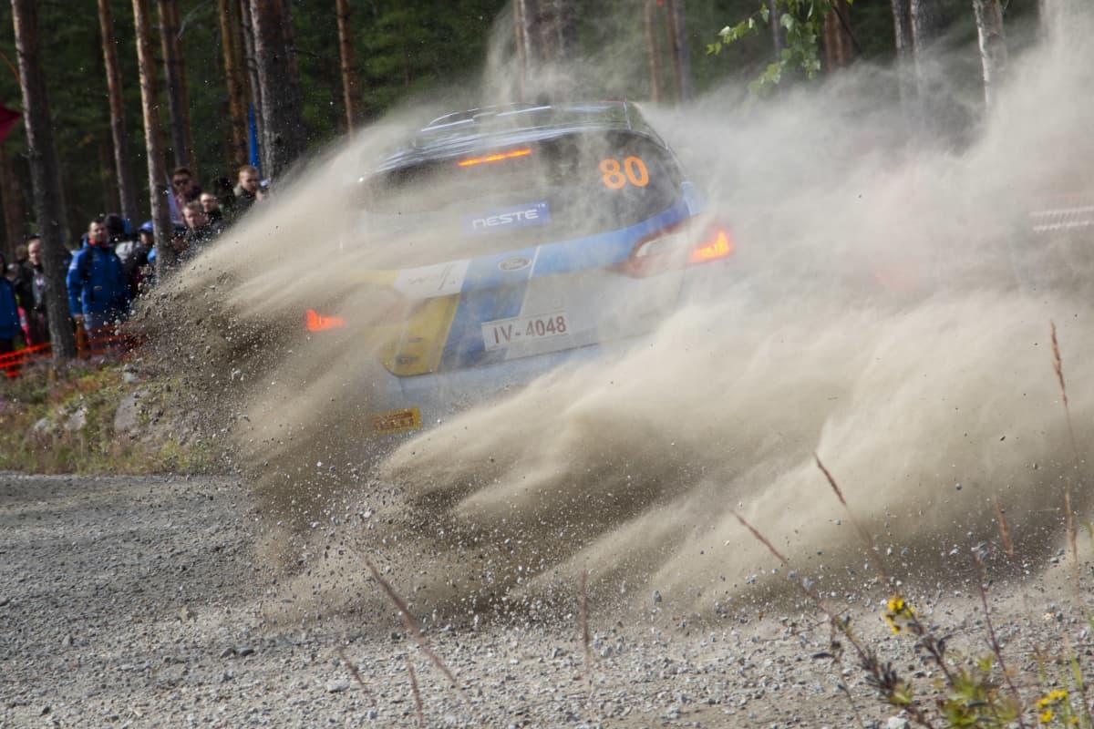 Kuvituskuva Jyväskylän MM-rallista.