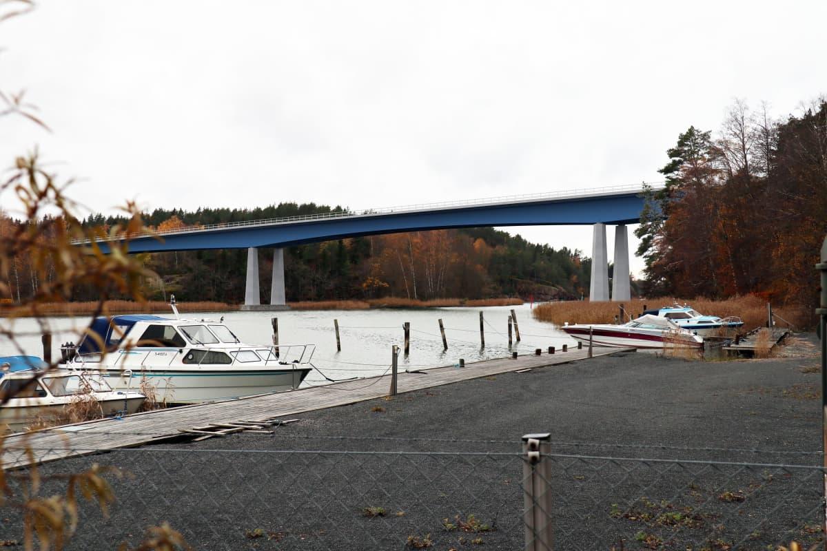 Havainnekuva Hessundinsalmen sillasta