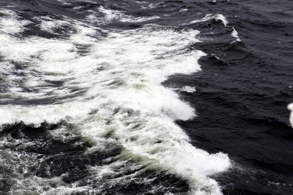 Merenkäyntiä Suomenlahdella kuvattuna Viking XPRS alukselta