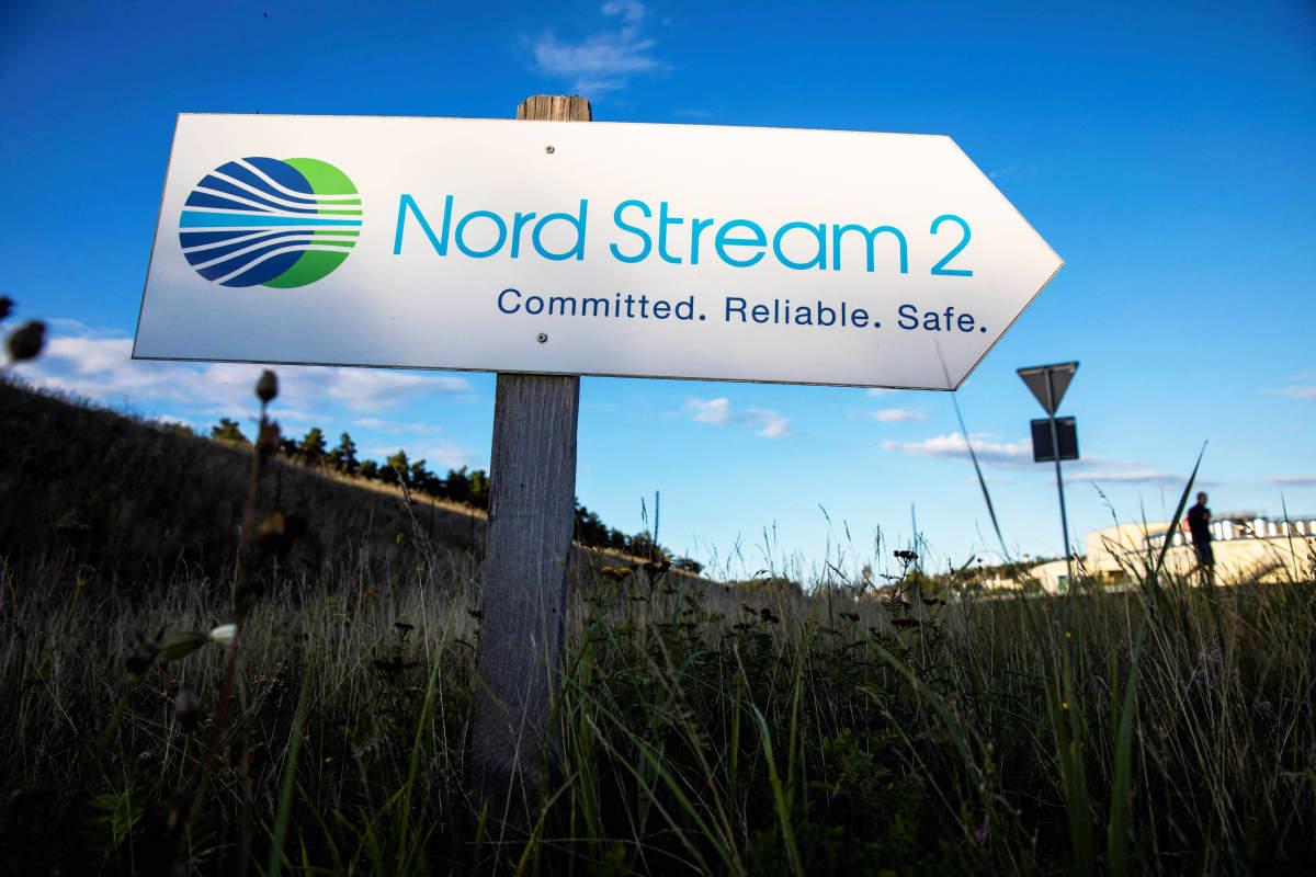 Nord Stream 2 -kyltti.