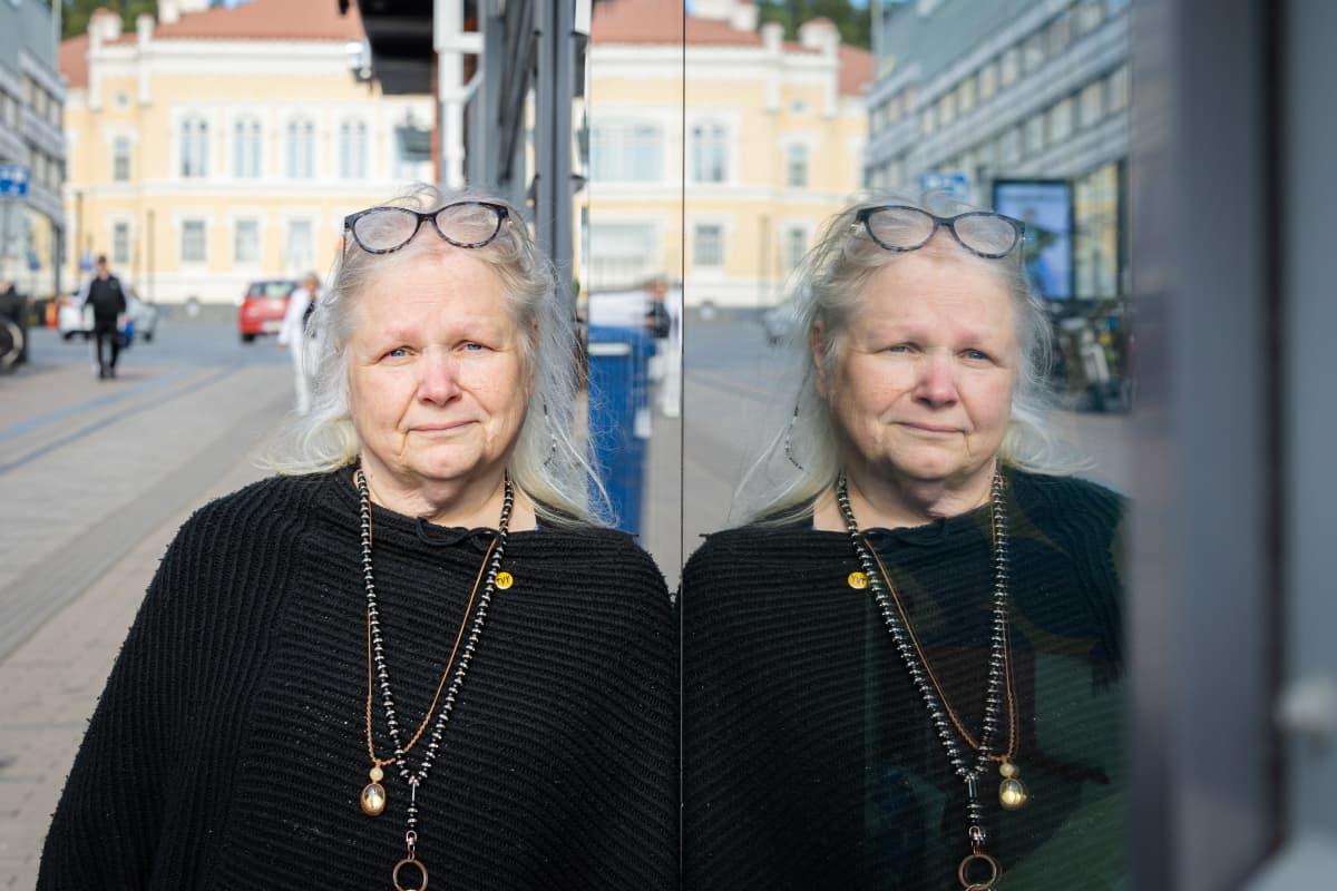 Maru Holopainen Hyvinvointia työttömille - Katutapahtumassa Jyväskylässä