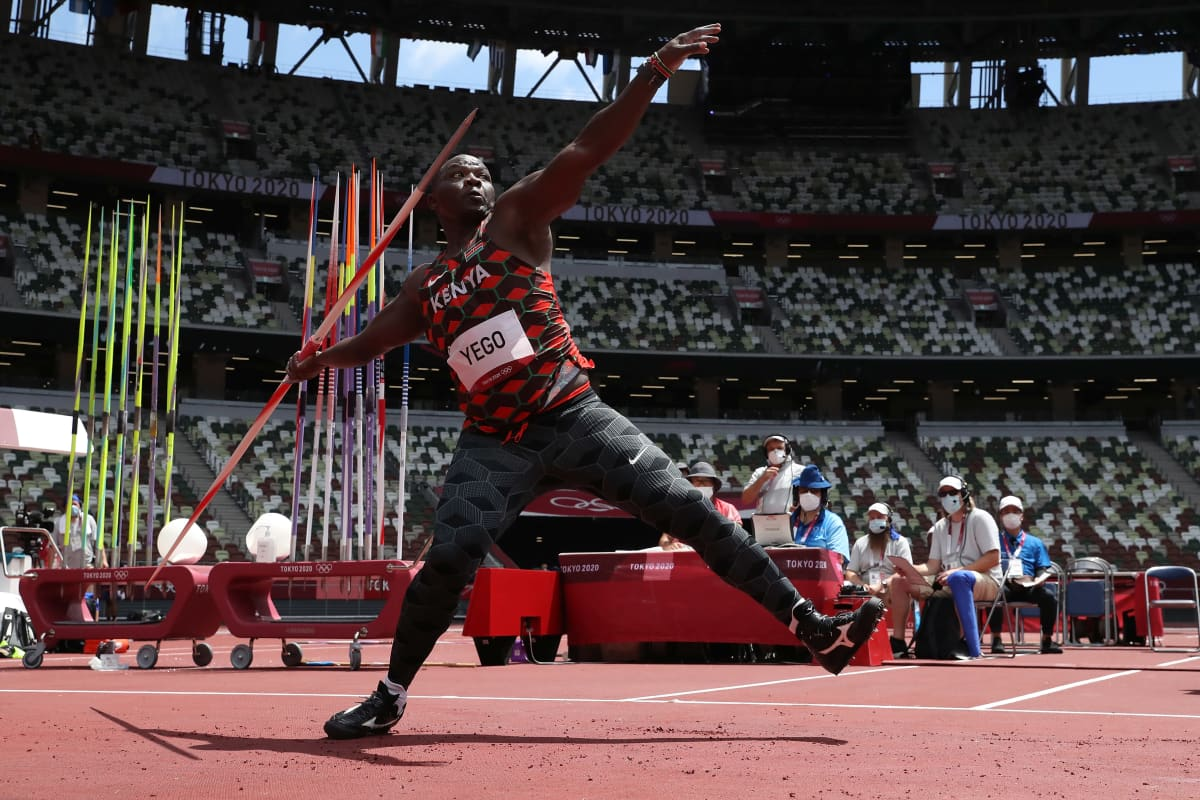 Julius Yego Tokion olympialaisissa.
