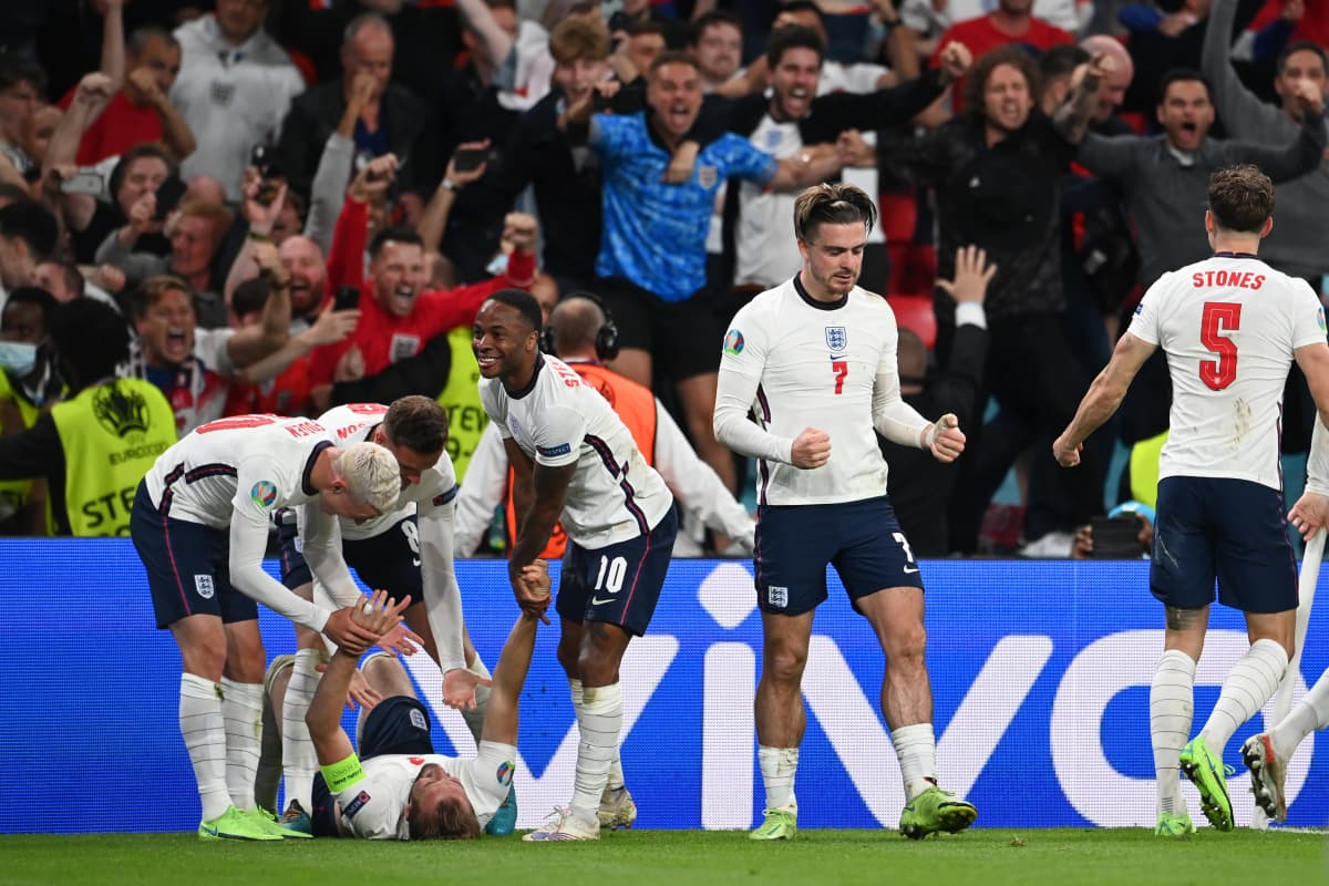 Harry Kane vei Englannin EM-finaaliin 2021.
