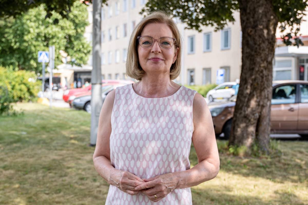Kansanedustaja ja Eksoten hallituksen puheenjohtaja Anneli Kiljunen.