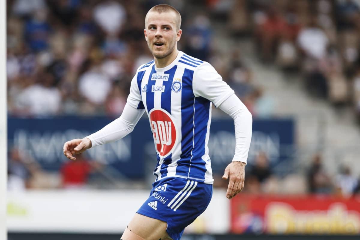 Roope Riski teki Mestarien liigan 1. karsintakierroksella kolme maalia FK Buducnostia vastaan heinäkuun alussa.