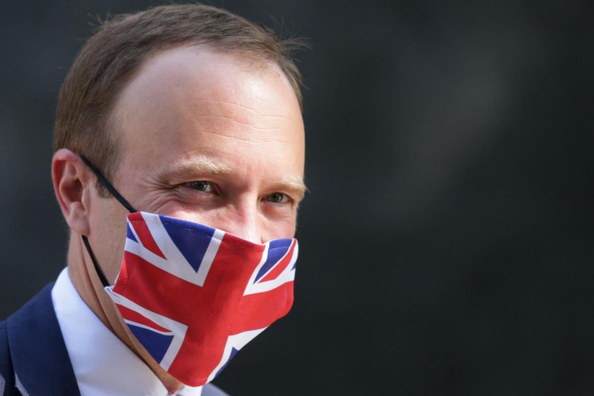 Britannian terveysministeri Matt Hancock.