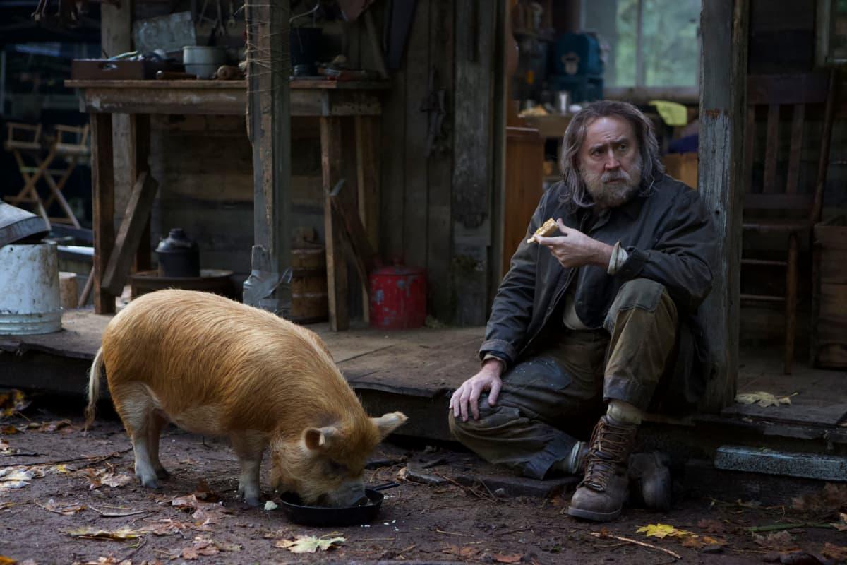 Nicolas Cage ja tryffelisika elokuvassa Pig.