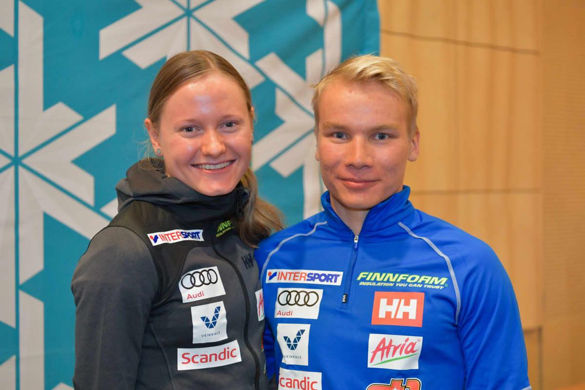 Johanna Matintalo ja Lauri Vuorinen.