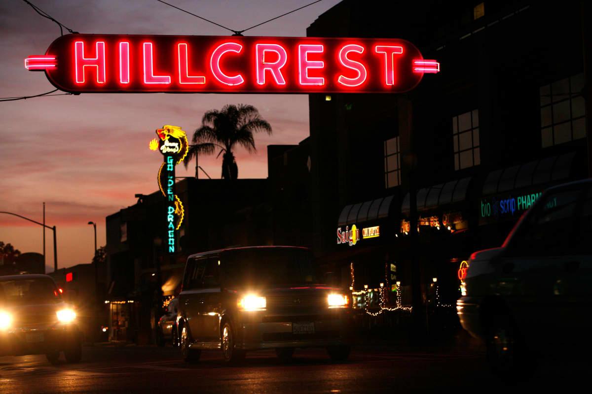 San Diegon Hillcrestisissä sijaitsee paljon ravintoloita ja baareja.