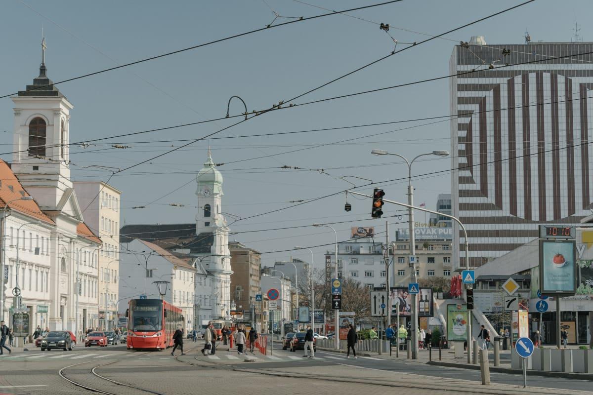 Bratislavan keskusta.