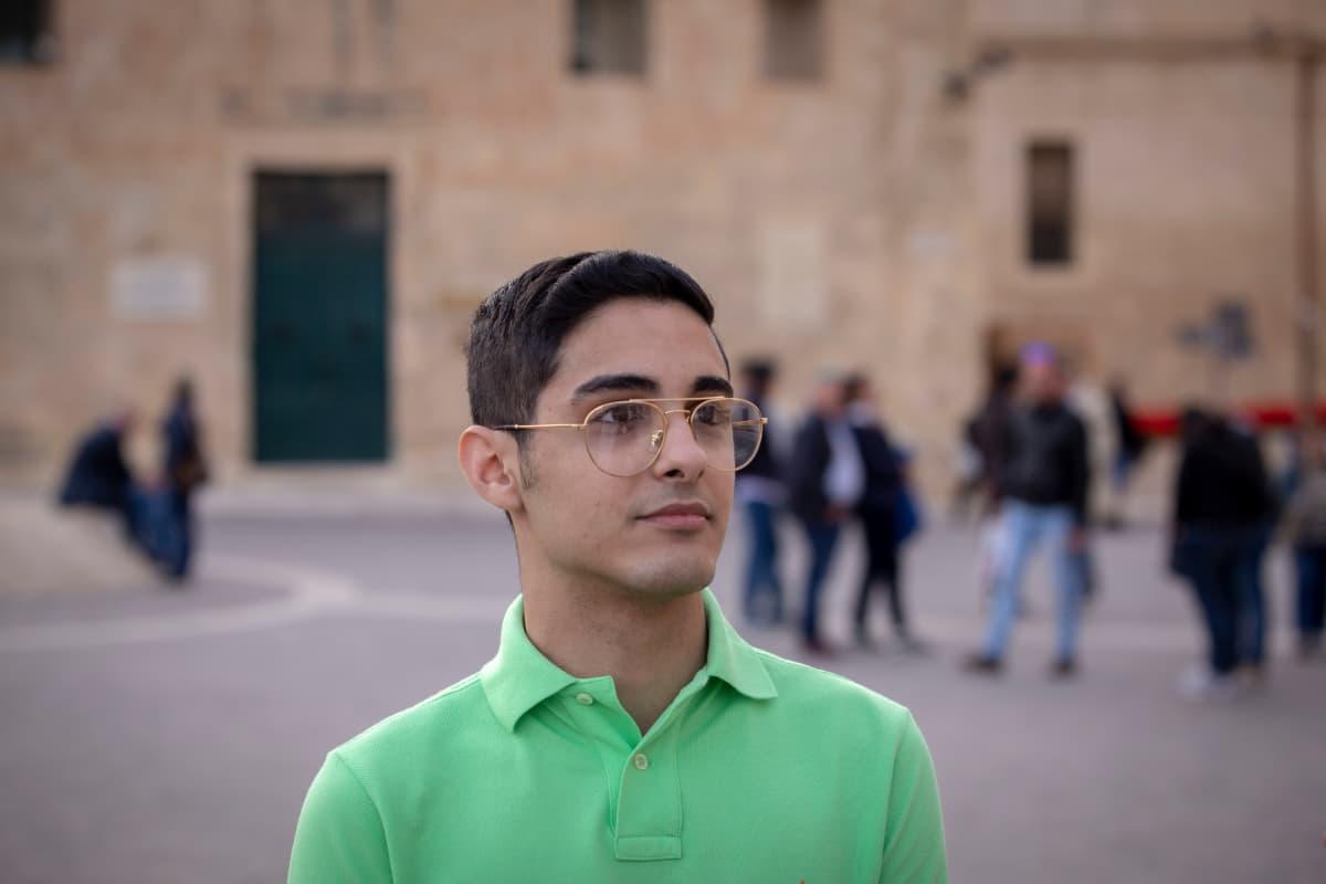 Hertian Salameh Cachia, 17, saa äänestää ensi kertaa eurovaaleissa ikärajan laskun takia.