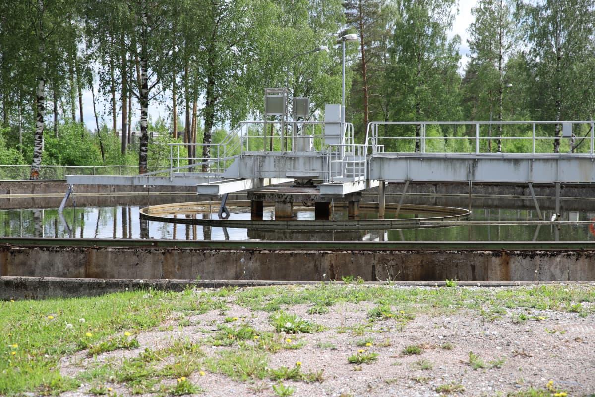 Jätevedenpuhdistamo Lappeenrannessa.