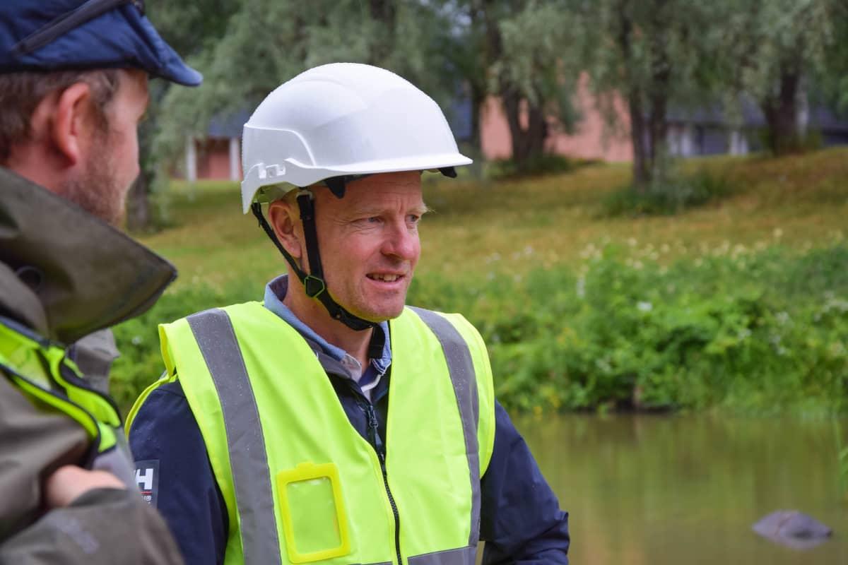 Juha-Pekka Triipponen on tyytyväinen näkemäänsä työn laatuun.