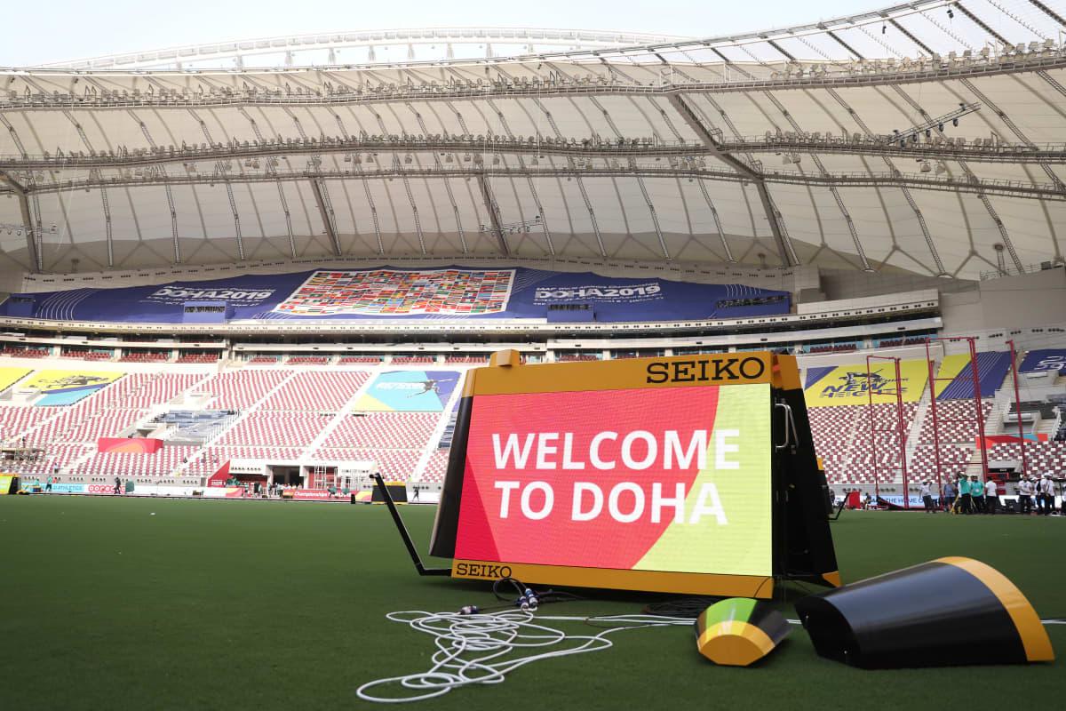 Dohan stadion Qatarissa.