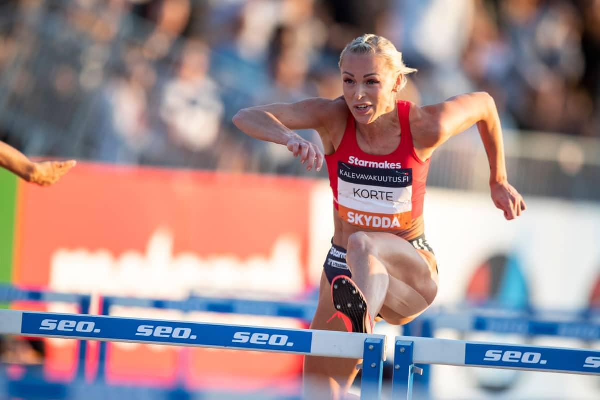 Annimari Korte voitti SM-kultaa Kalevan kisojen ennätysajalla 12,79.