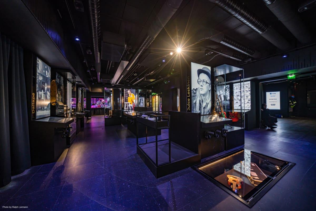Näkymä Musiikkimuseo Famen näyttelysaliin.