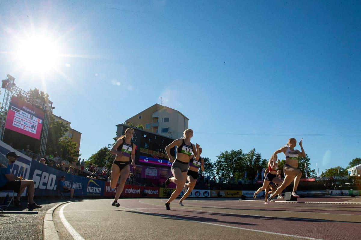 Naisten 200 metrin juoksu Turun Kalevan Kisoissa