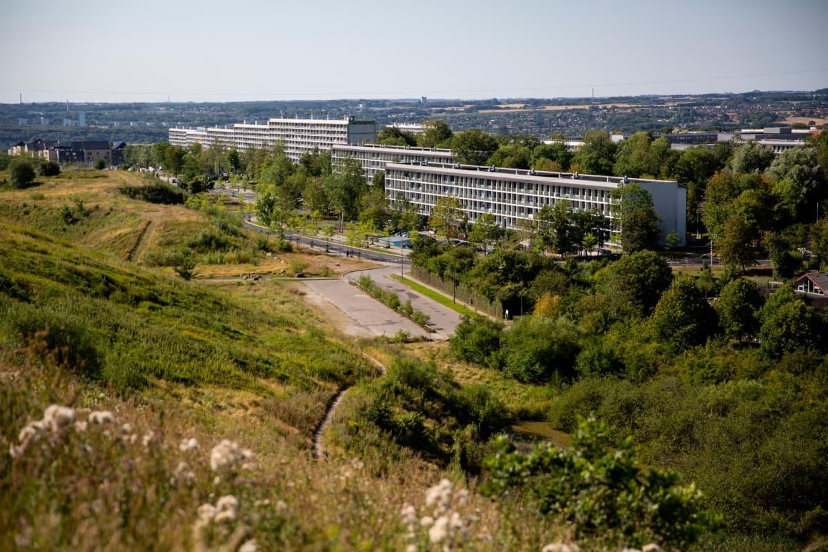 Gellerupin betoniset kerrostalot on rakennettu 1968-1970.