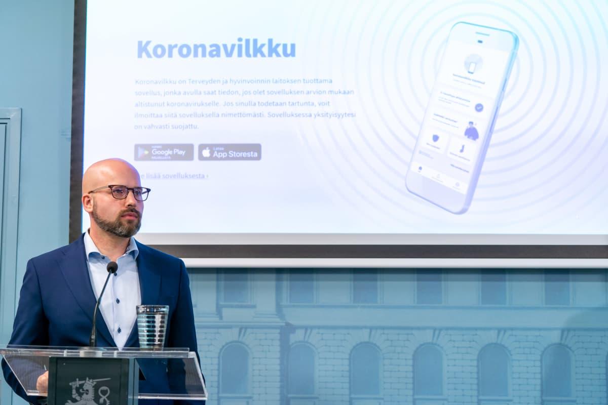 THL:n tiedonhallintajohtaja Aleksi Yrttiaho