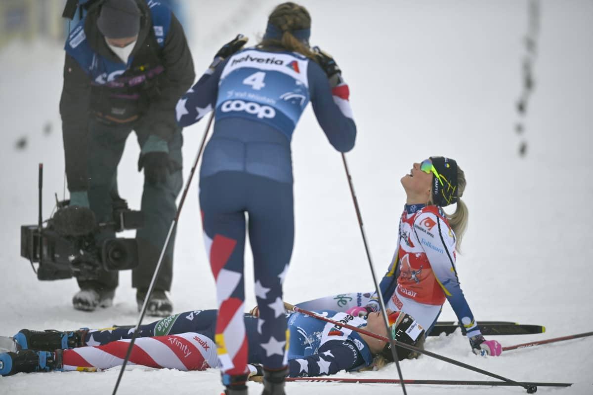Tour de Ski ,  Rosie Brennan Jessie Diggins   Frida Karlsson