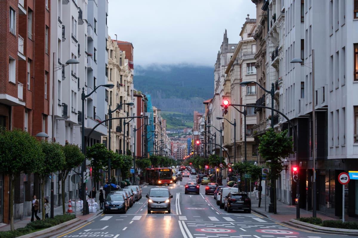 Katunäkymä Bilbaossa
