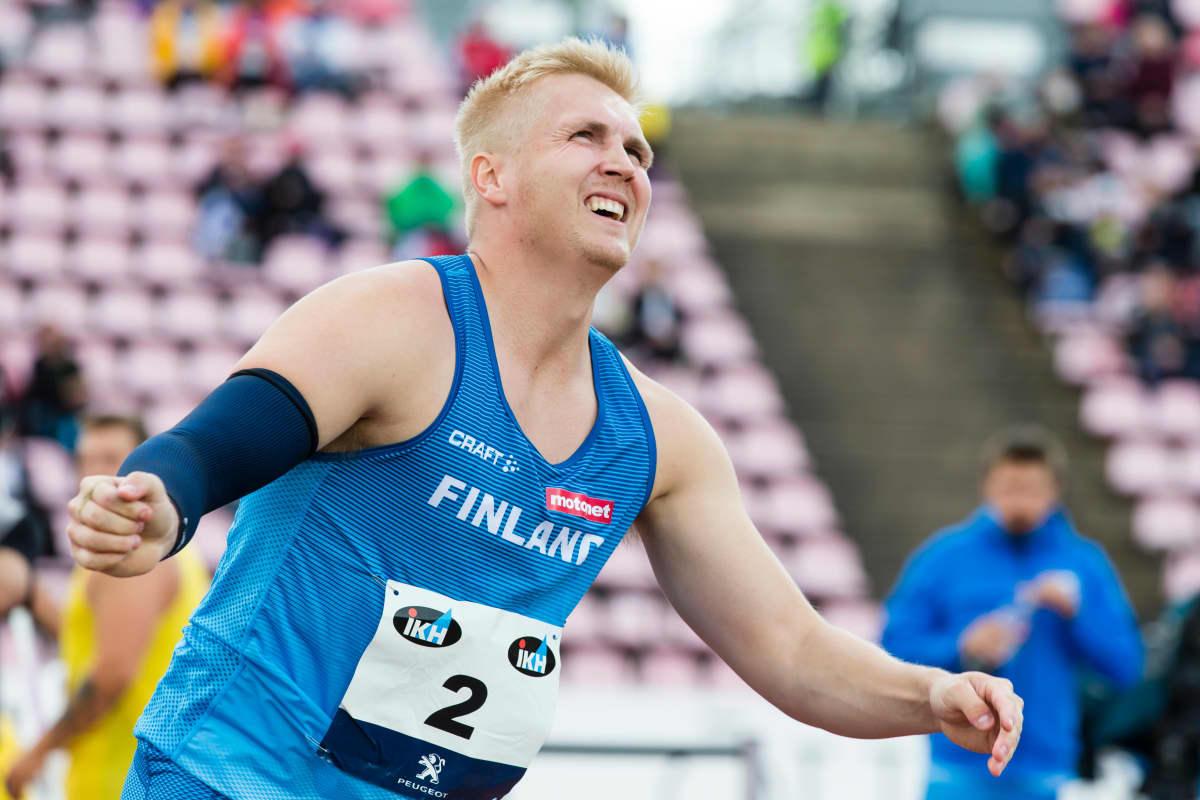 Toni Kuusela on pystynyt rikkomaan 85 metriä ainoana suomalaisena heittäjänä 2020-luvulla.
