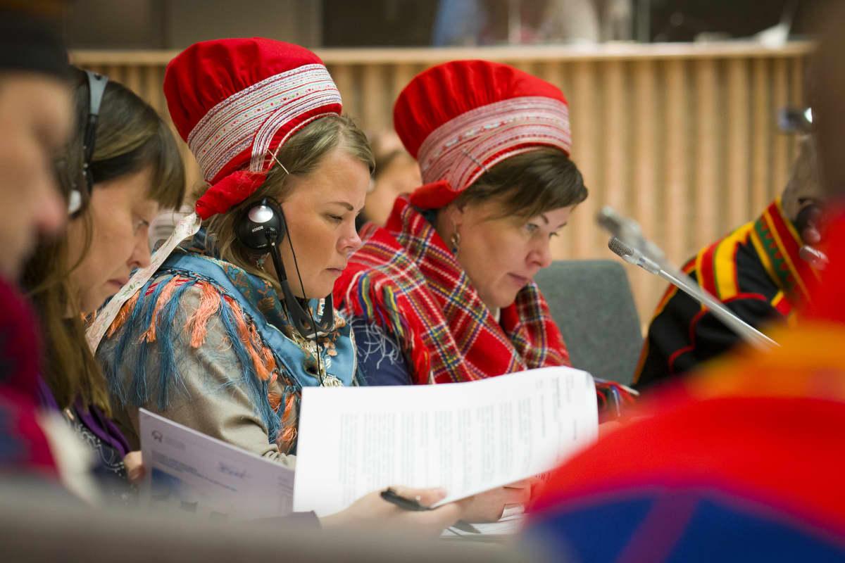Petra Biret Magga-Vars ja Ulla Magga