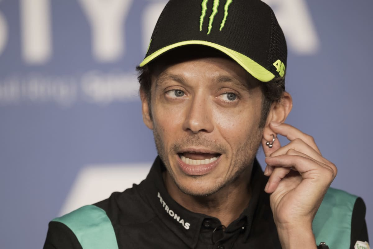 Valentino Rossi lehdistötilaisuudessa