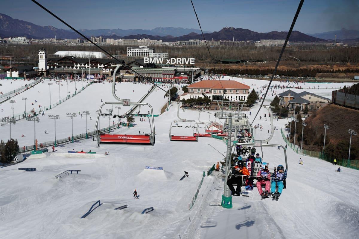 Nanshan on Pekingin lähin hiihtokeskus