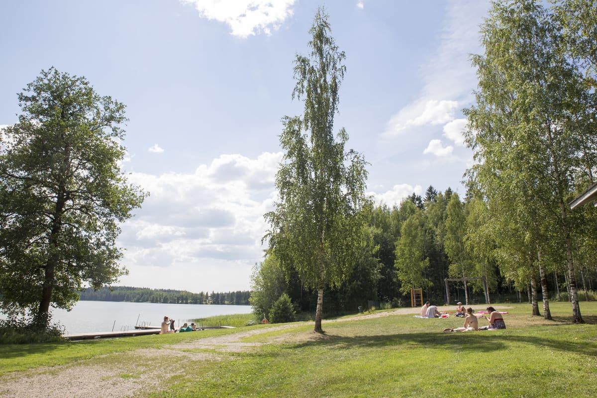 Uimaranta Pornaisissa.