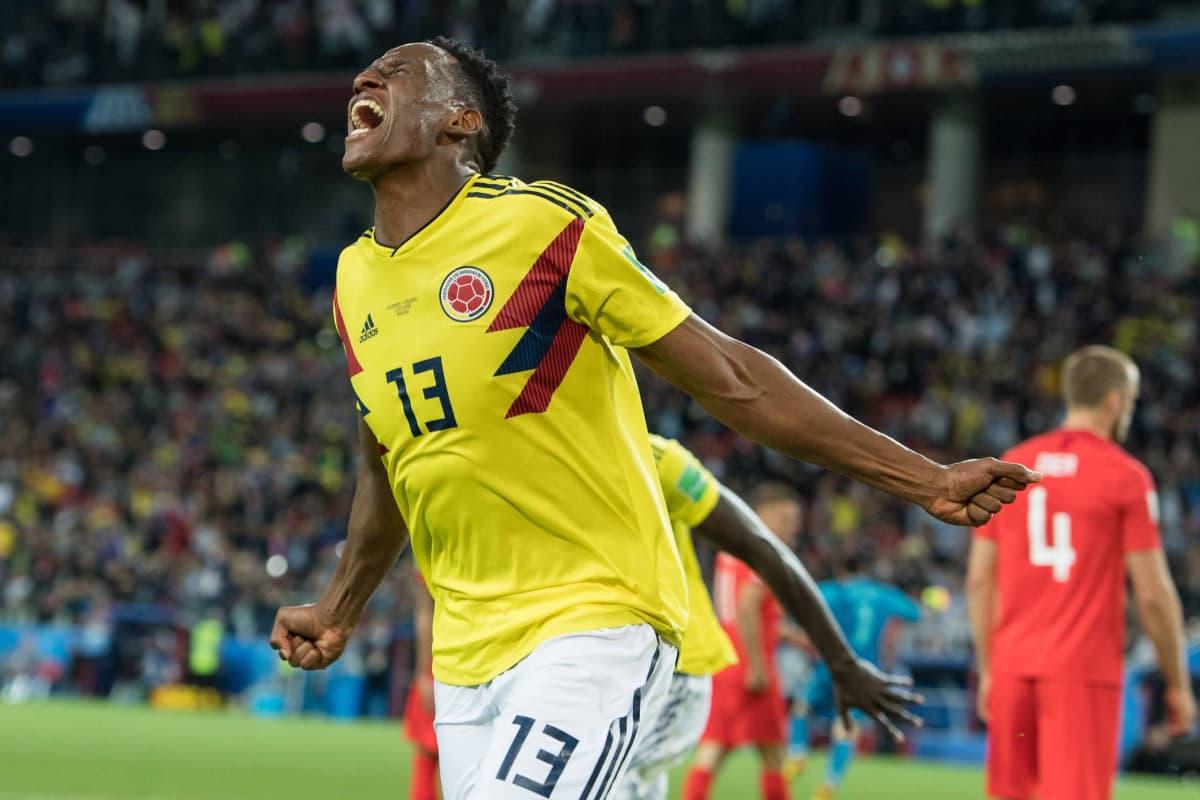 Kolumbian paidassa MM-kisoissa vakuuttanut Yerry Mina vahvistaa Evertonin puolustusta.