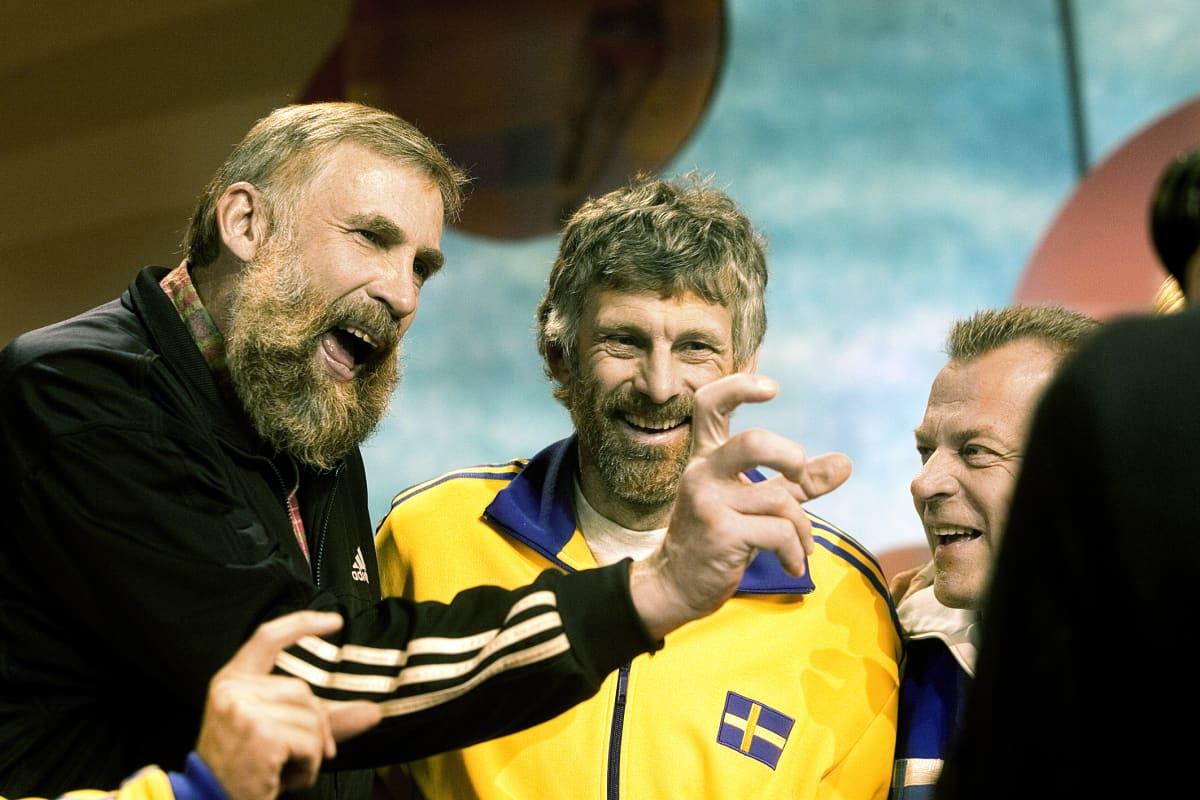 Juha Mieto och Thomas Wassberg tv-ohjelmassa Se on siinä, 2006.
