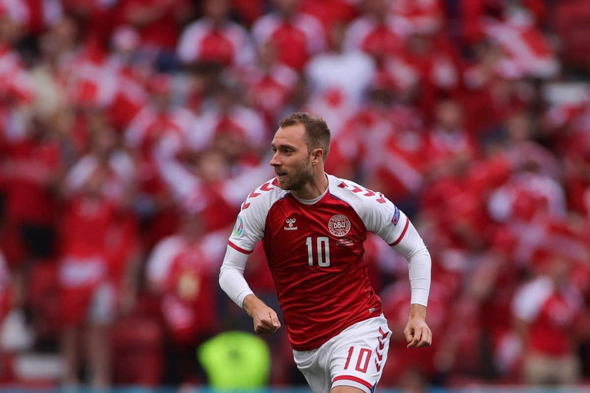 Christian Eriksen 12.6.2021, Suomi vs Tanska