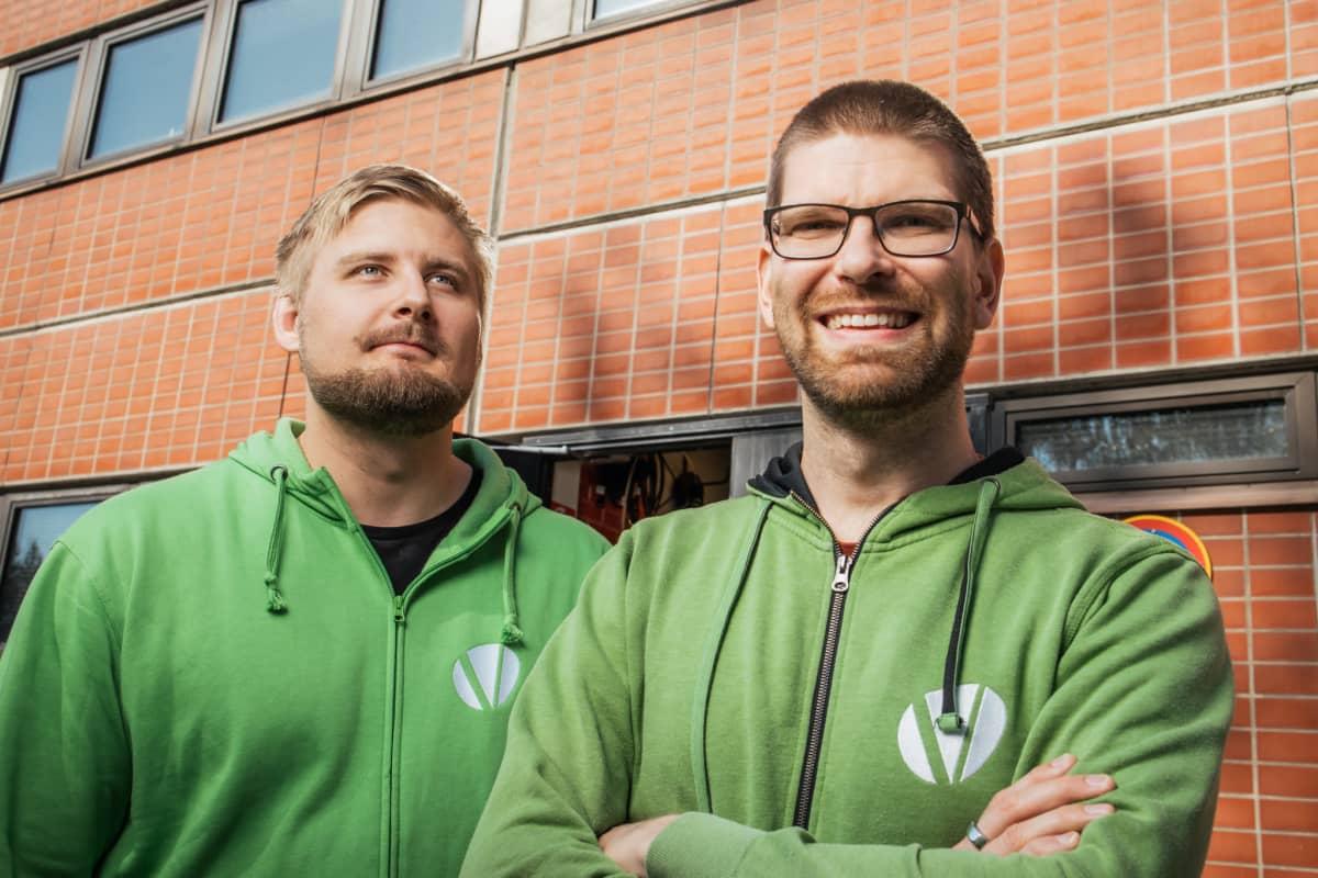Yrittäjät Heikki Jussila ja Topi Jokinen, Vertia Oy.