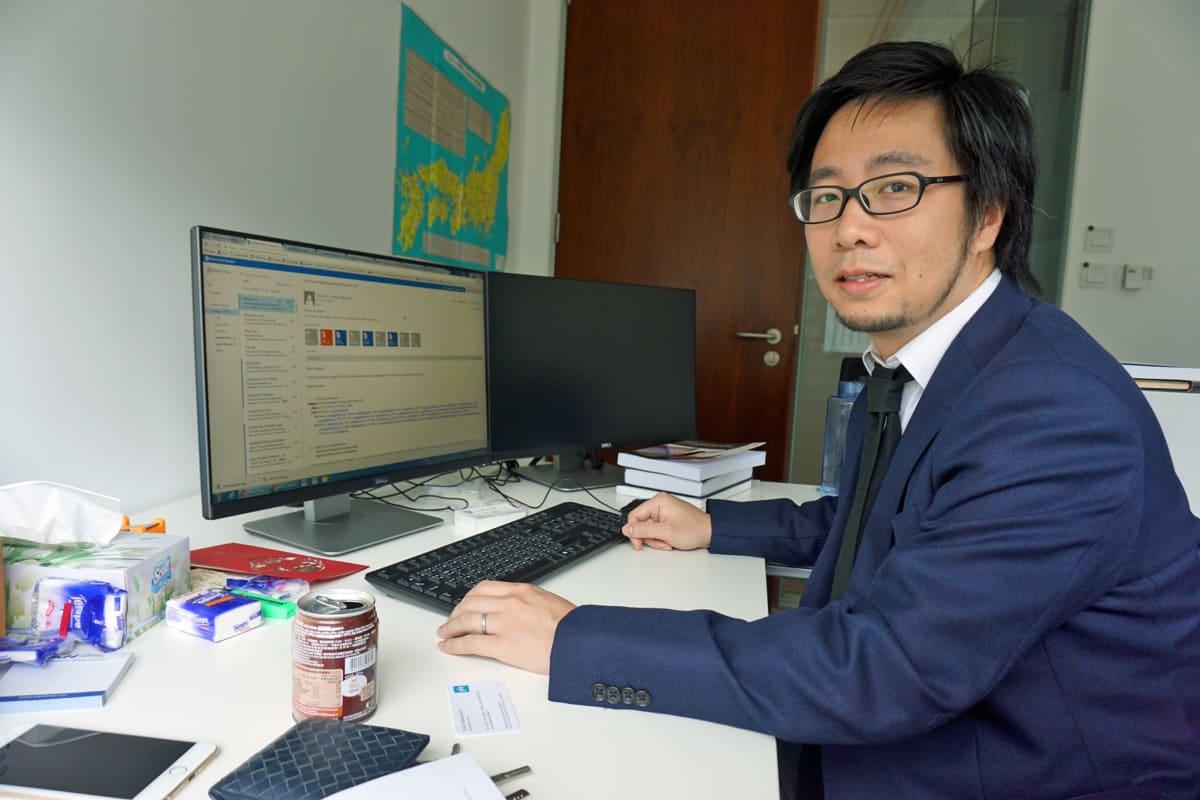 Tutkija Mathew Wong