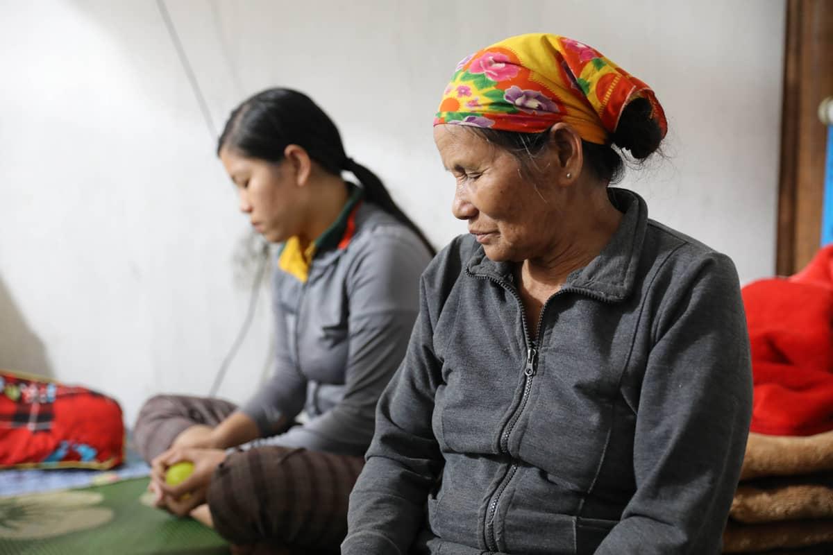 Cao Huy Thanhin äiti (oik.) Vietnamissa maaraskuun 8. päivänä 2019.