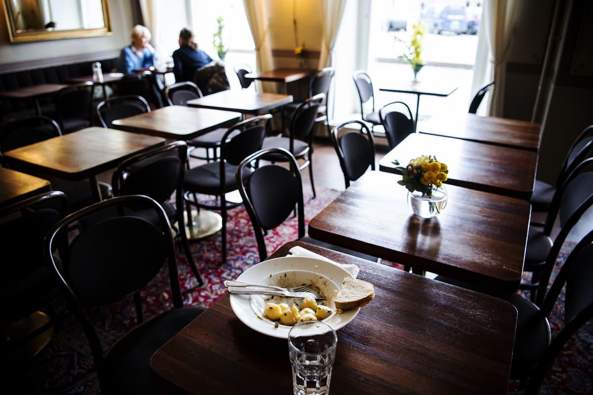Autio ravintola Helsingissä.
