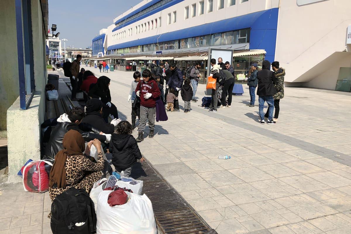 Turkkilainen linja-autoasema.