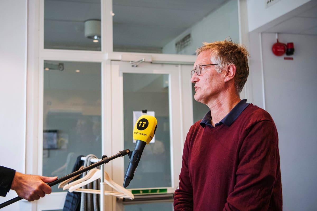 Kuvassa on Ruotsin pääepidemologi Anders Tegnell.