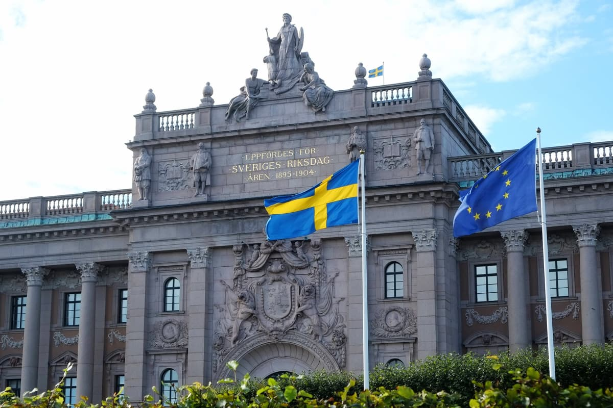 Ruotsin valtiopäivätalo.