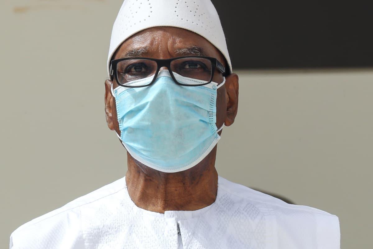 Kuvassa on Ibrahim Boubacar Keita.